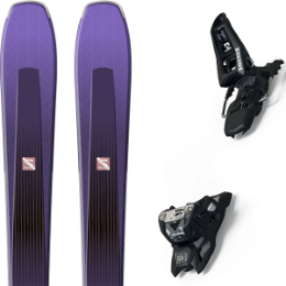 Boutique SALOMON SALOMON AIRA 84 TI PURPLE/BLACK 20 + MARKER SQUIRE 11 ID BLACK 21 - Ekosport