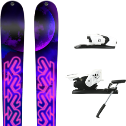 K2 EMPRESS 19 + SALOMON Z12 B90 WHITE/BLACK 21
