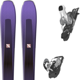 Pack ski alpin SALOMON SALOMON AIRA 84 TI PURPLE/BLACK 20 + SALOMON WARDEN 11 N SILVER/BLACK L90 19 - Ekosport