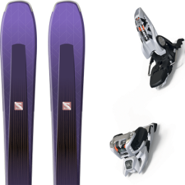 Boutique SALOMON SALOMON AIRA 84 TI PURPLE/BLACK 20 + MARKER GRIFFON 13 ID WHITE 20 - Ekosport