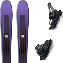 Boutique SALOMON SALOMON AIRA 84 TI PURPLE/BLACK 20 + MARKER 11.0 TCX BLACK/ANTHRACITE 20 - Ekosport