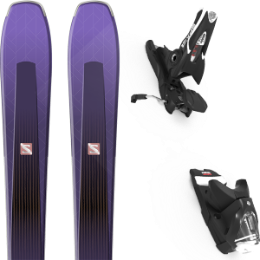 BU SKI SALOMON SALOMON AIRA 84 TI PURPLE/BLACK 20 + LOOK SPX 12 GW B100 BLACK 21 - Ekosport