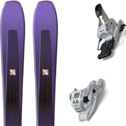 Boutique SALOMON SALOMON AIRA 84 TI PURPLE/BLACK 20 + MARKER 11.0 TCX WHITE 20 - Ekosport