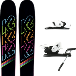 K2 MISSCONDUCT 20 + SALOMON Z12 B90 WHITE/BLACK 21