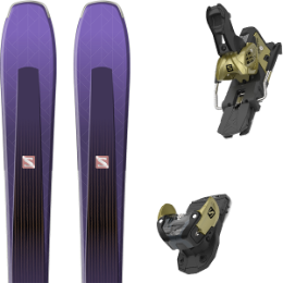 Pack ski alpin SALOMON SALOMON AIRA 84 TI PURPLE/BLACK 20 + SALOMON WARDEN MNC 13 N GOLD 20 - Ekosport