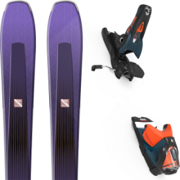 Boutique SALOMON SALOMON AIRA 84 TI PURPLE/BLACK 20 + LOOK SPX 12 GW B120 PETROL/ORANGE 20 - Ekosport