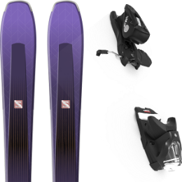 Boutique SALOMON SALOMON AIRA 84 TI PURPLE/BLACK 20 + LOOK NX 12 GW B100 BLACK 21 - Ekosport