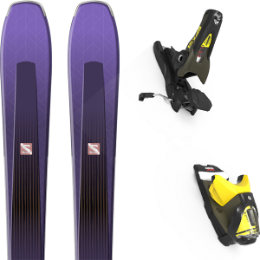 Pack ski alpin SALOMON SALOMON AIRA 84 TI PURPLE/BLACK 20 + LOOK SPX 12 GW B100 KAKI/YELLOW 20 - Ekosport
