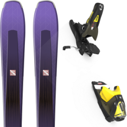 Pack ski alpin SALOMON SALOMON AIRA 84 TI PURPLE/BLACK 20 + LOOK SPX 12 GW B90 KAKI/YELLOW 20 - Ekosport
