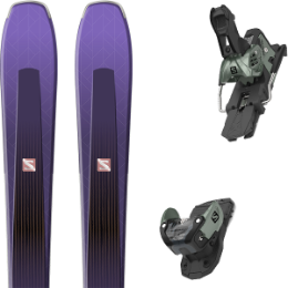 Pack ski alpin SALOMON SALOMON AIRA 84 TI PURPLE/BLACK 20 + SALOMON WARDEN MNC 13 N OIL GREEN 20 - Ekosport