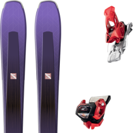 Pack ski alpin SALOMON SALOMON AIRA 84 TI PURPLE/BLACK 20 + TYROLIA ATTACK² 13 GW W/O BRAKE [A] RED 20 - Ekosport