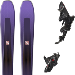 Pack ski alpin SALOMON SALOMON AIRA 84 TI PURPLE/BLACK 20 + MARKER KINGPIN MWERKS 12 75-100MM BLK/RED 20 - Ekosport