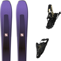 Pack ski alpin SALOMON SALOMON AIRA 84 TI PURPLE/BLACK 20 + ATOMIC SHIFT 13 MNC N BLACK/GOLD 90 21 - Ekosport